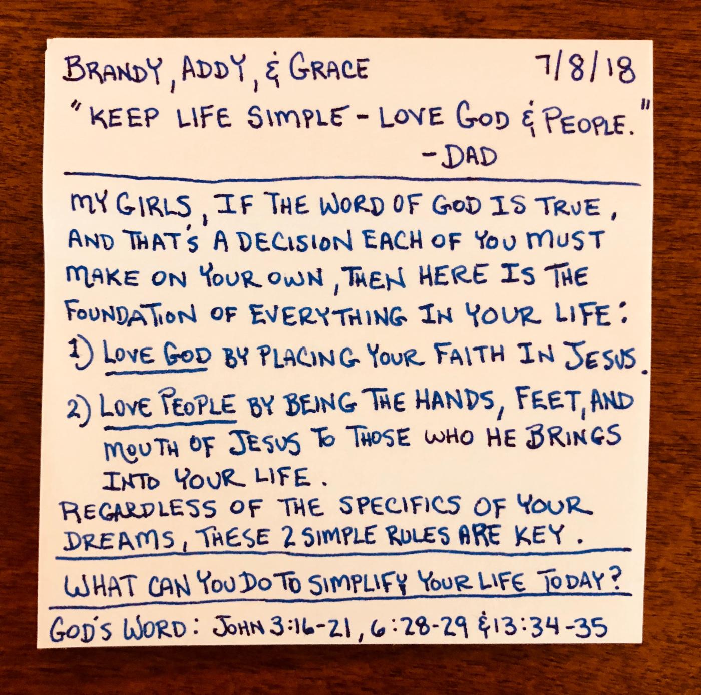 Keep Life Simple - Love God & People