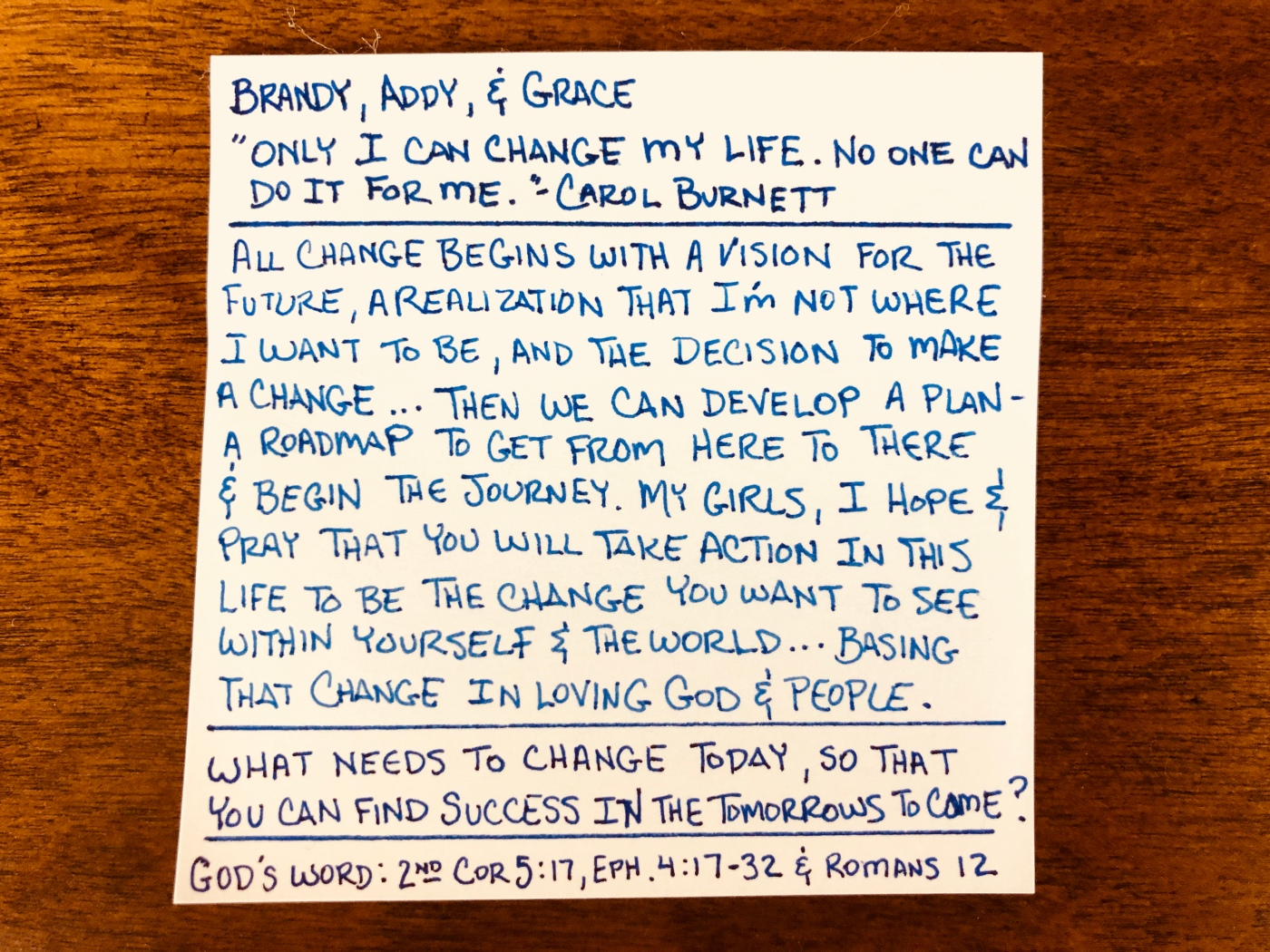 Only I Can Change My Life No One Can Do It For Me - Carol Burnett